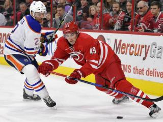 Canes dominate 3rd period, down Oilers 2-1