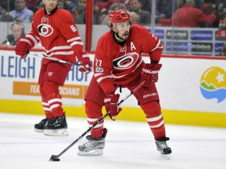 Justin Faulk (27) during NHL action at the PNC Arena between the Carolina Hurricanes and the Edmonton Oilers on February 3, 2017 in Raleigh, NC. (Will Bratton/WRAL contributor)