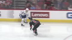 Highlights: Hurricanes fall to Maple Leafs, 4-0