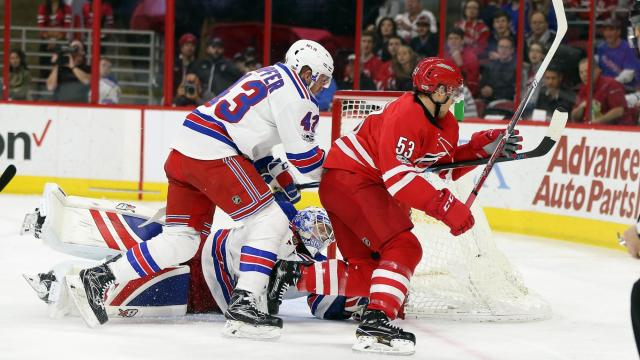 Canes rally to edge Rangers, 4-3