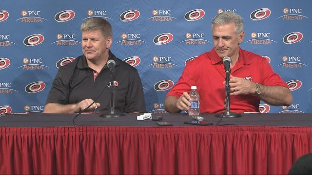 Bill Peters and Ron Francis Pic-End of Season