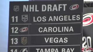 Canes, fans watch NHL Draft at PNC Arena