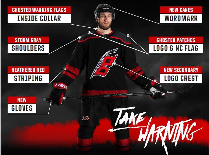 db8ecdc18db Canes unveil new third jersey ahead of NHL Draft    WRALSportsFan.com