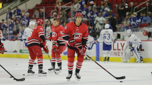 60a7800d Gold: Canes saved best for last in win over Sens :: WRALSportsFan.com