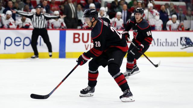 492f297845a Carolina s Sebastian Aho during the Hurricanes  game versus the Washington  Capitals on Friday