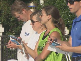 The hectic world of a summer swim meet is where Charlie Houchin feels right at home. With a little help from his team, Houchin has created an app that works on smart phones and tablets to run swim meets.