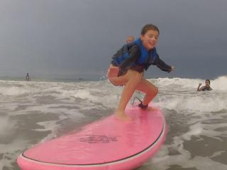 Olivia and Evan Wilkerson weren't always so fearless when it came to extreme sports. Hanging Ten is just a little more difficult for the brother and sister from Raleigh who have visual impairments.