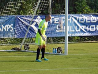 RailHawks goalie Scott Goodwin during play against the LA Galaxy Tuesday, June 24, 2014 at WakeMed Soccer Park.