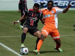 Apr 4, 2015; The Ottawa Fury visited the Carolina Railhawks in a NASL regular season match at Wake Med Soccer Park.  Mandatory Credit: Rob Kinnan-Carolina Railhawks