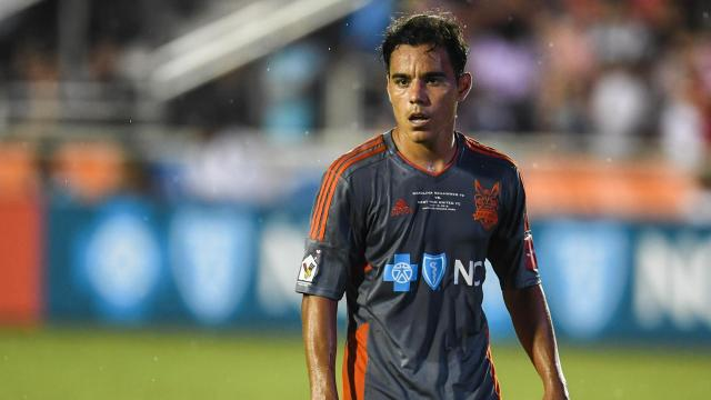 Carolina Railhawks Omar Bravo (99)  The Carolina Railhawks hosted English Premier League West Ham United in an international friendly at Wake Med Soccer Park on July 12, 2016.  The matched ended in a 2 to 2 draw. Photo by:  Suzie Wolf