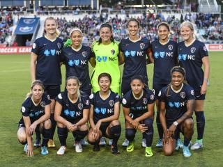 The NC Courage host the 2016 Supporters Shield winners, the Portland Thorns, on Saturday, April 22 for the team's inaugural home opener at newly named Sahlen's Stadium and WakeMed Soccer Park.  NC Courage defeat the Portland Thorns 1 to 0.  Photo by:  Suzie Wolf