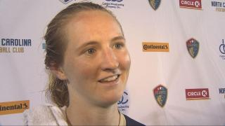 Mewis: I think we did a good job coming off two losses just playing like...