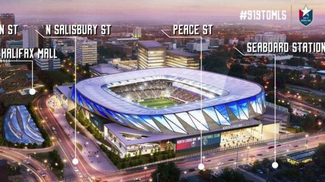 NCFC stadium plan with street names