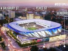 NCFC stadium plan with street names