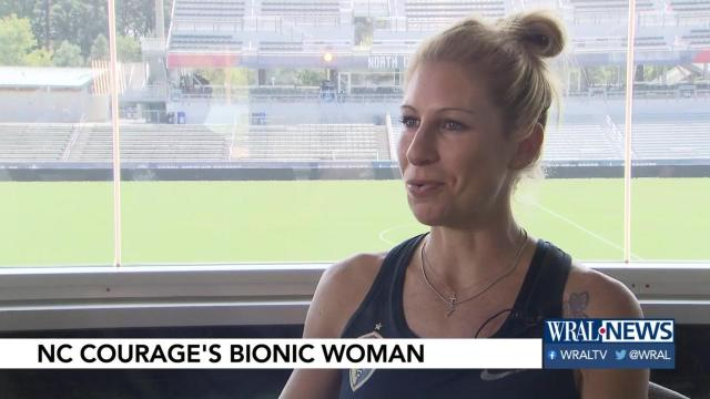 Carolina Courage's 'bionic woman' discusses serious arm surgery