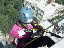 9/30/2011: Mitchell goes 'Over the Edge' for Special Olympics