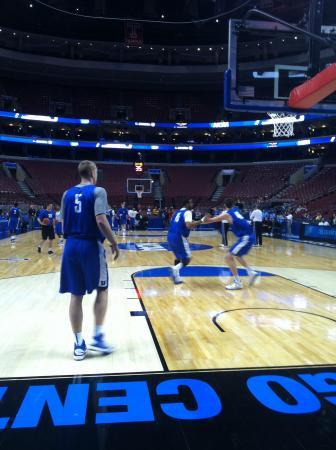 Duke practice in Philadelphia