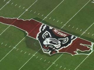 North Carolina State will debut a familiar looking midfield logo against North Carolina on Saturday, Nov. 2.
