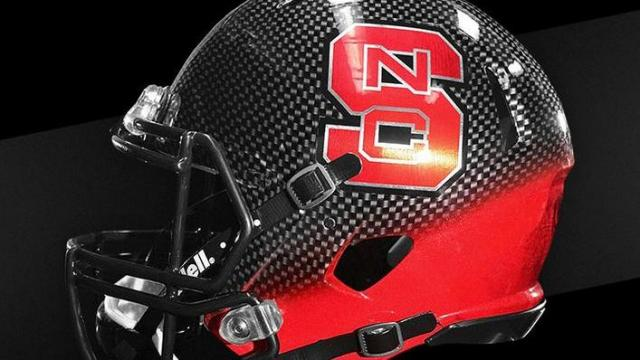 NC State's new alternate helmet.