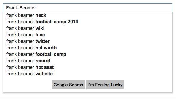 Google Frank Beamer
