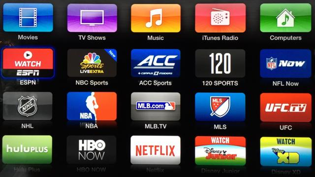 AppleTV offers a suite of sports related apps