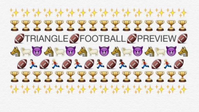 2015 Triangle Football Emoji Preview Wralsportsfan Com