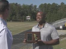 Howard Watson reconnected with Extra Effort Award 35 years later