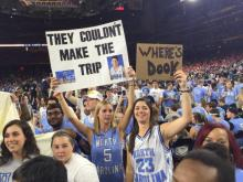 North Carolina students at Final Four