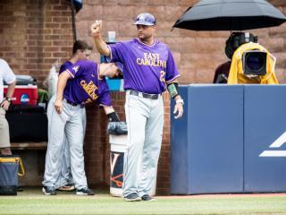 East Carolina head baseball coach Cliff Godwin (Photo courtesy ECU Athletic Media Relations)
