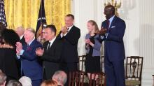 IMAGES: Jordan fits right in with this year's Medal of Freedom honorees