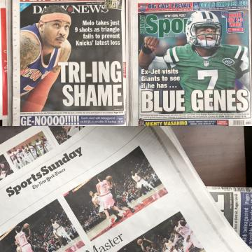 New York sports pages
