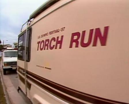 Torch Run bus