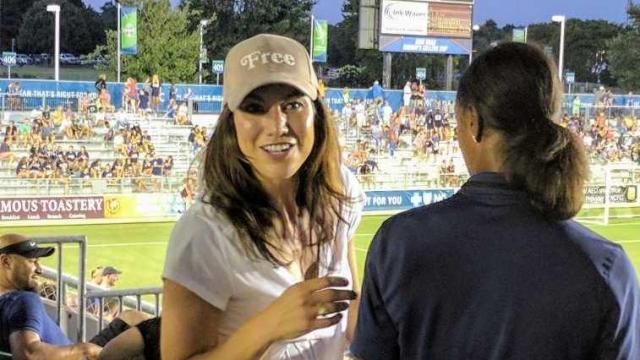 Hope Solo at NC Courage vs. Seatle Reign