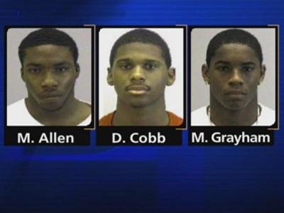 Michael Allen, Davon Cobb and Marcus Graham are charged with murder in connection with the shooting death of Karemond Spells, 30, of Goldsboro